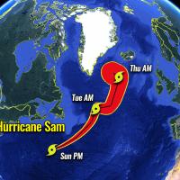 atlantic hurricane season 2021 extratropical storm sam iceland