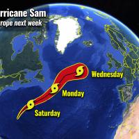 atlantic hurricane season 2021 most powerful storm sam bermuda europe