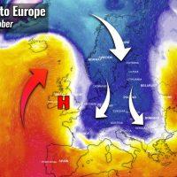 cold blast forecast mid october european continent
