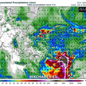 Extreme amount of rainfall and major flash floods threat for south Turkey through the next 3 days, Dec 5-7th