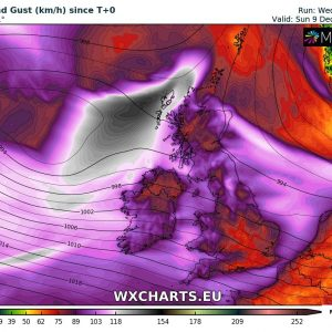 Severe windstorm for Ireland, Scotland and North Sea on Friday, Dec 7th